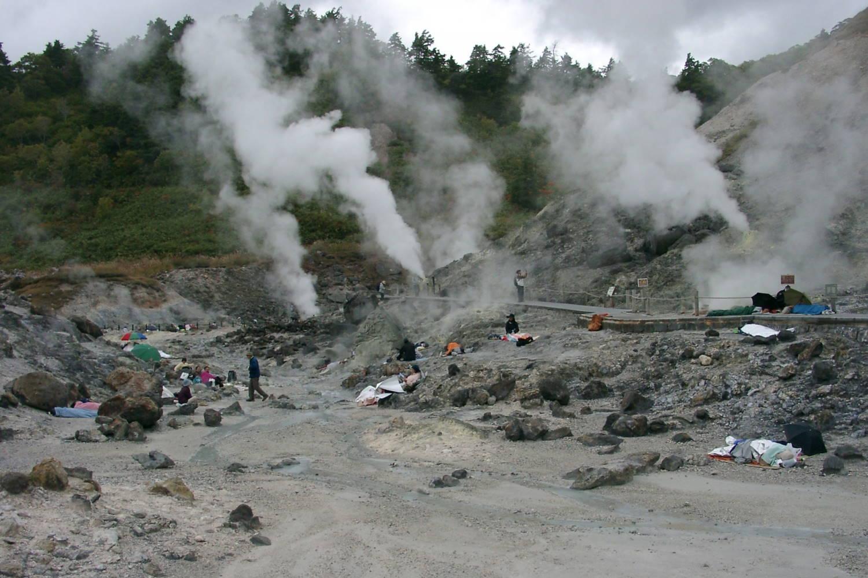 玉川温泉の岩盤浴場
