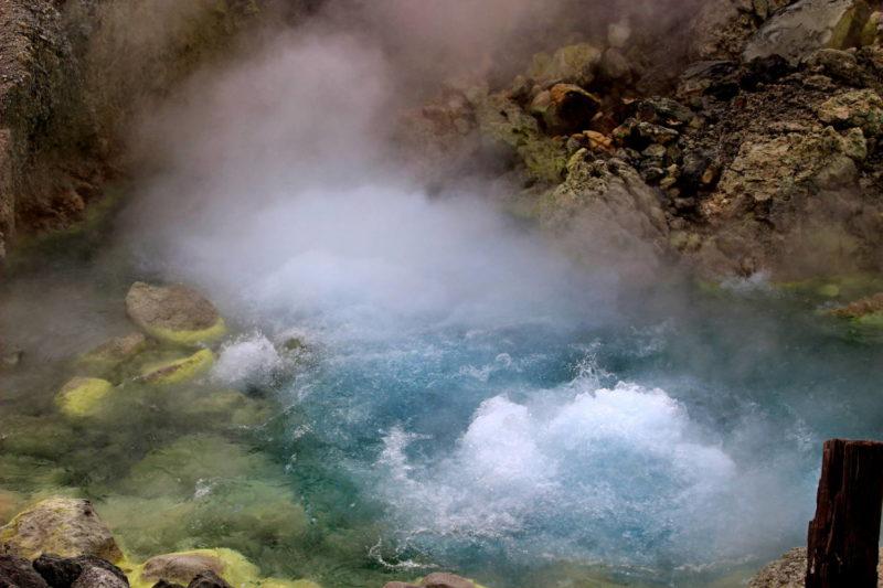 玉川温泉の湧出口 大噴(おおぶけ)
